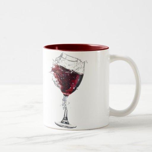 Fractura del vidrio taza de café