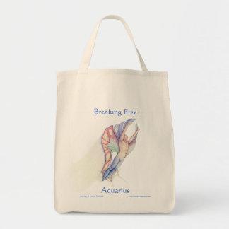 Fractura libremente - del acuario bolsas lienzo