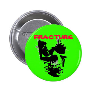 fracture skull pinback button