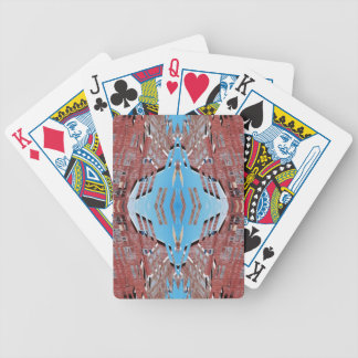 Fractured Barn - Weird Abstract Bicycle Playing Cards