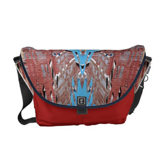 Fractured Barn - Weird Abstract Messenger Bag