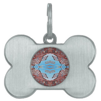 Fractured Barn - Weird Abstract Pet Name Tag