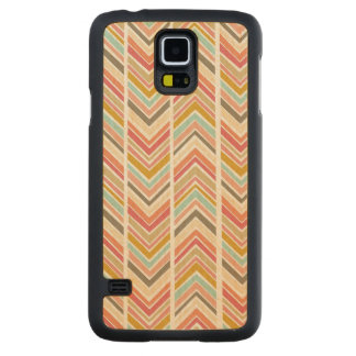 """""""Fractured Chevron"""" Maple Wood Galaxy S5 Case Carved® Maple Galaxy S5 Slim Case"""