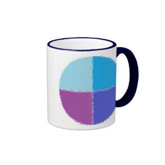 Fractured Circle Ringer Mug
