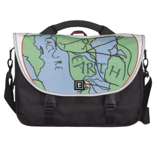 Fractured Earth--Edited jpg Commuter Bags