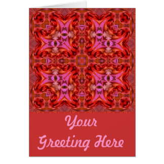 Fractured Fuschia Fractals Card