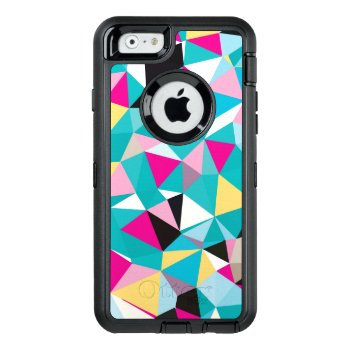 Fractured Geometric Pattern Otterbox Defender Iphone Case by lisaguenraymondesign at Zazzle