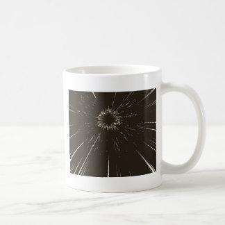fractured glass coffee mug