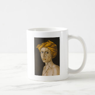 Fractured Identity In Gold Coffee Mug