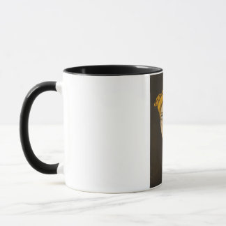 Fractured Identity In Gold Mug