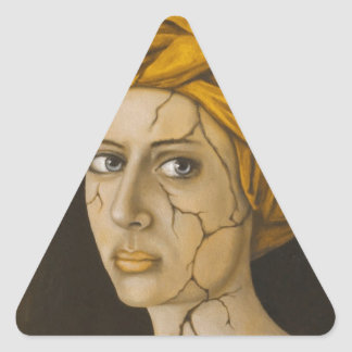 Fractured Identity In Gold Triangle Sticker
