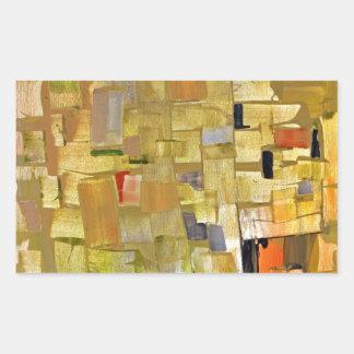 Fractured Mosaic Rectangular Sticker