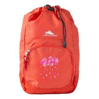 Fractured Pink Cloud Custom Backpack by KCS