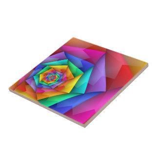 Fractured Rainbow Ceramic Tile