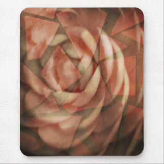 Fractured Rose Mouse Pad