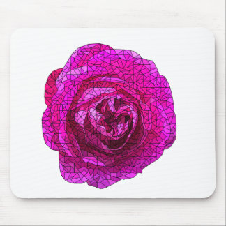 Fractured Rose Pink Mouse Pad