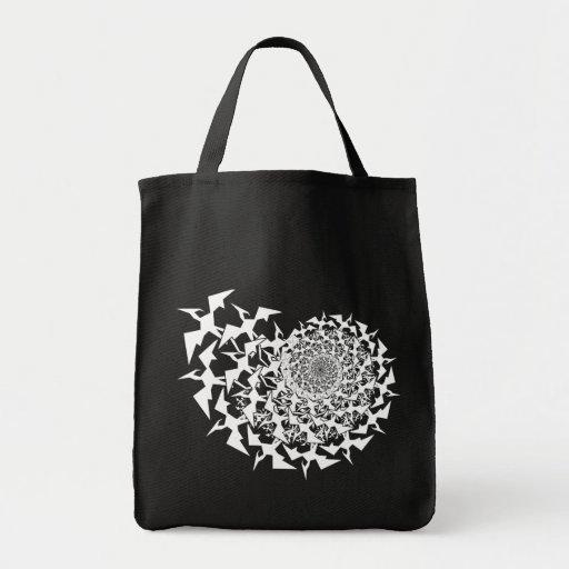 Fractyl Pterodactyl Grocery Tote Bag