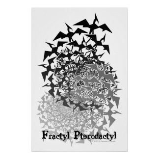 Fractyl Pterodactyl Two Swarms Poster