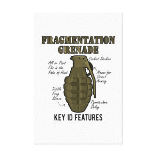 Frag Grenade ID Features Canvas Print