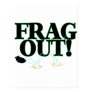 Frag Out Postcard