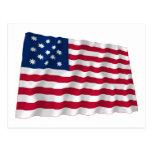 Fragata Alliance que agita la bandera Postal