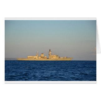 Fragata HMS Monmouth. Tarjeta De Felicitación