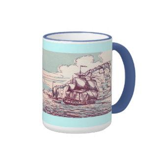 Fragata inglesa 1745 taza de dos colores
