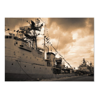 """Fragatas portuguesas de la marina de guerra invitación 5"""" x 7"""""""