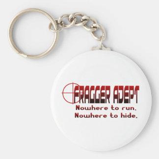 Fragger Adept Basic Round Button Keychain