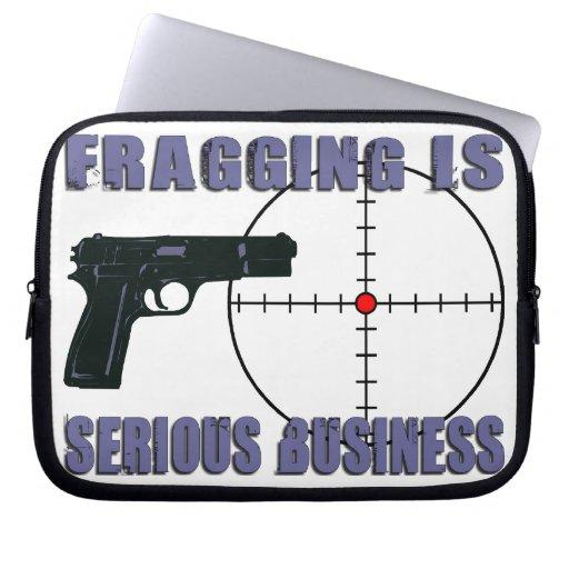 Fragging es negocio serio fundas computadoras