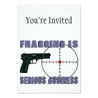 """Fragging es negocio serio invitación 5"""" x 7"""""""