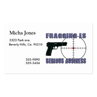 Fragging es negocio serio tarjetas de visita