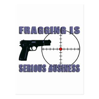 Fragging es negocio serio tarjetas postales