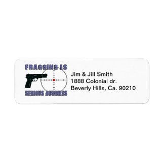 Fragging Is Serious Business Label