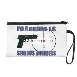 Fragging Is Serious Business Wristlet Purse