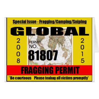 Fragging Permit Card