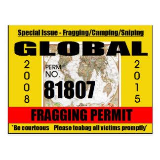 Fragging Permit Postcard