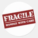Frágil dirija con el artículo del cuidado pegatina