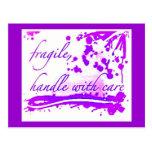 frágil dirija con la postal del cuidado