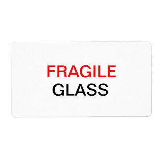 Frágil - embalaje y mudanza de cristal etiquetas de envío