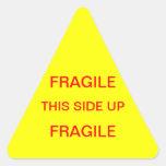 Frágil este lado para arriba pegatina trianguladas personalizadas