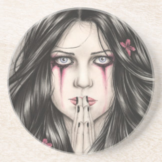 Fragile Belief Goth Girl Coaster