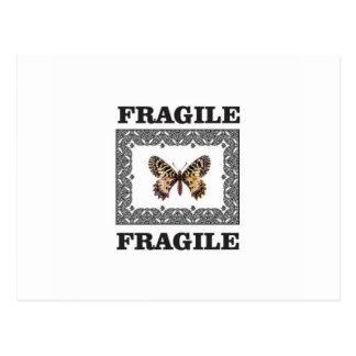 fragile butterfly postcard