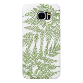 Fragile Fern Green Silhouette Samsung Galaxy S6 Cases
