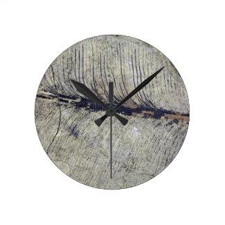 Fragile Fossil Plant Leaf Round Clock