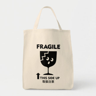 Fragile Grocery Tote Bag