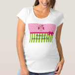 Fragile Handle Gently Polka Dot Maternity Shirt