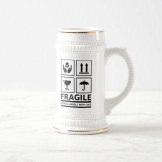 Fragile Handle with Care 18 Oz Beer Stein