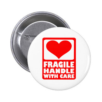 Fragile handle with care 2 inch round button