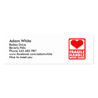 Fragile handle with care Double-Sided mini business cards (Pack of 20)